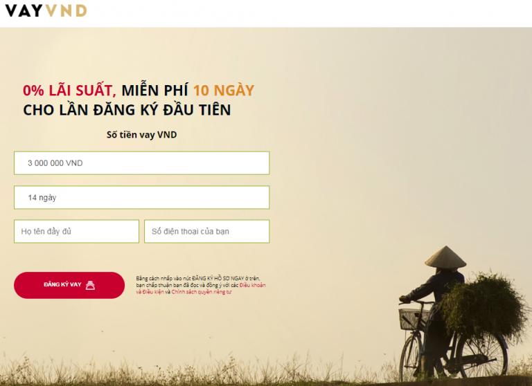 VAY VND – Có ngay 10 triệu chỉ với CMND và các thủ tục online