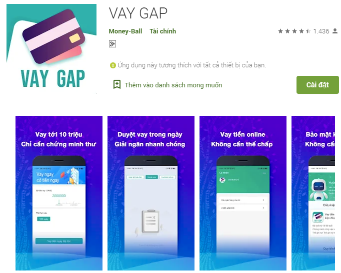 VAY GAP – Hỗ trợ vay gấp trong một nốt nhạc với hạn mức nhỏ